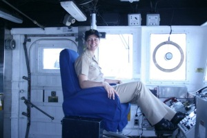 Executive Officer USS ANZIO (CG 68) on bridge